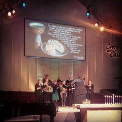 Maundy Thursday at Pleasant Bay Church (@kirklandchurch). Laurie and the choir.