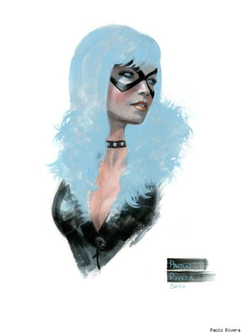 superheropinups:  Black Cat - by Paolo Rivera