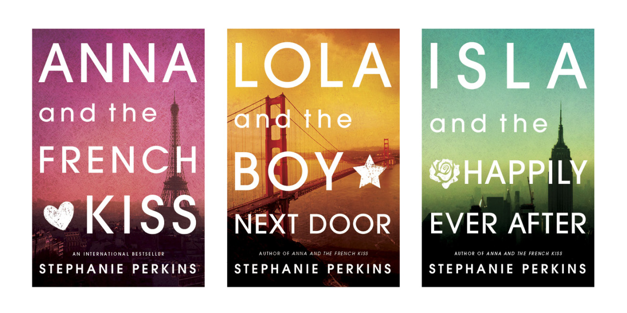 jsgabel:  A beautiful new look for Stephanie Perkins. ANNA and LOLA will be available in paperback on July 16. ISLA coming soon!  GORGEOUS! It's hard not to be greedy and grabby and demand them NOW! But we will wait patiently like good book lovers. :)