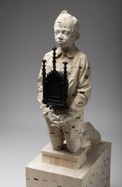 Sculptures by Gehard Demetz | Posted by devidsketchbook.com