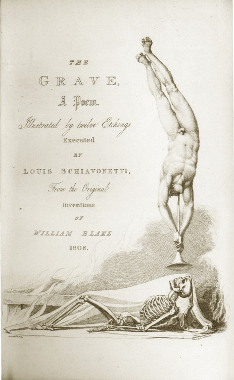 denisforkas:  William Blake - Title page of Blair's The Grave. 1808