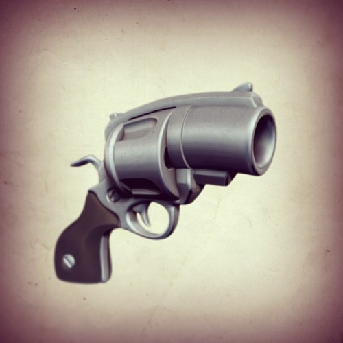 ZBrush toon revolver. my first 100% pure zbrush hard-surface model.