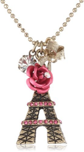 "jewelry-queen:  Betsey Johnson ""Holiday Boxed"" Eiffel Tower Pendant Necklace"