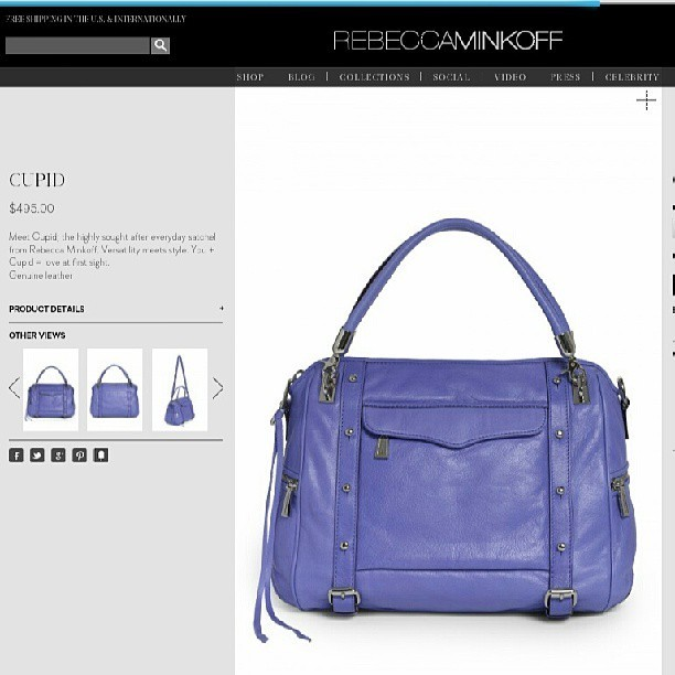 I need  this in my life #rebeccaminkoff #cupid #handbag #bag #purse #fashion #accessories