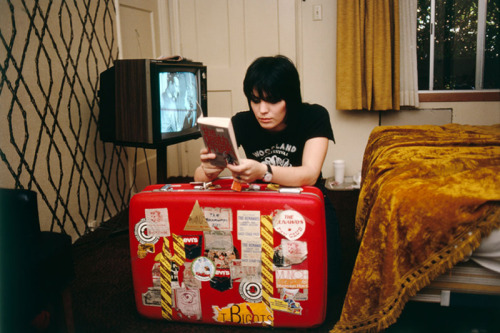 awesomepeoplereading:  Joan Jett reads.