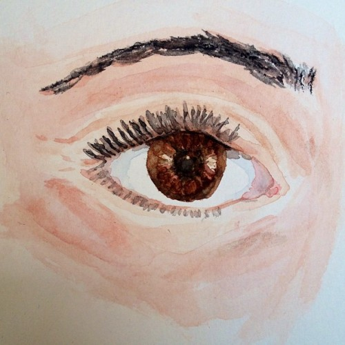"""Open your eyes, look within"" -Bob Marley #art #watercolor #eyes"