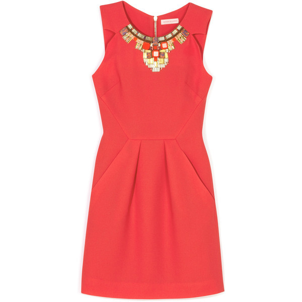 Matthew Williamson Tuck Dress   ❤ liked on Polyvore (see more sleeveless dresses)