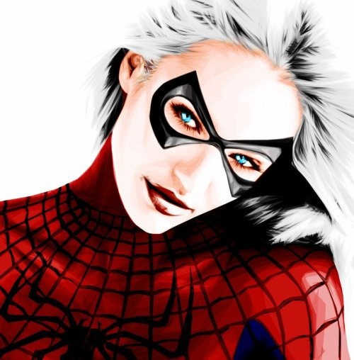 thegoddamnblogman:   Spidey Dress-Up - Gza R | More | Black Cat