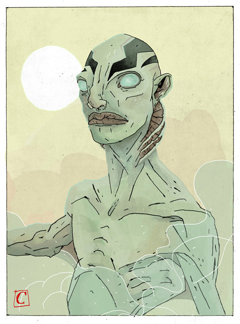 "My entry for the ""Evolution of Abe Sapien"" Art Contest. Link"