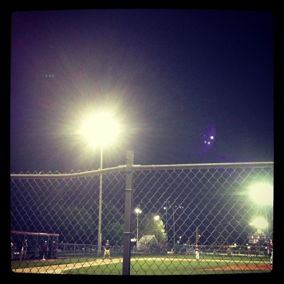 #maypictureadaychallenge lights on the night game (at Andersen Fields - Millard Athletic Assocation)