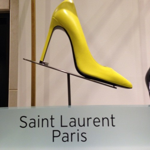 #Traffic stopper! Perfect color to pop #Spring13 #SaintLaurentParis @nordstrom #shoes #newarrivals #nordstrom  (at @NordstromSEA)