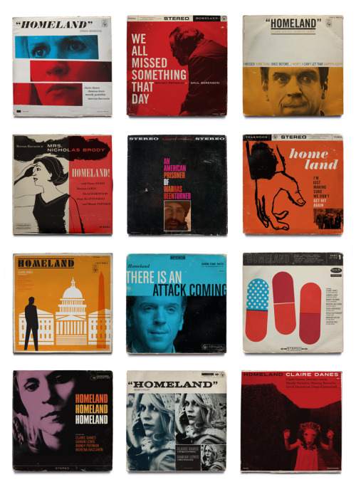 Brilliant! Designer Ty Mattson remixes Homeland with vintage jazz record covers.