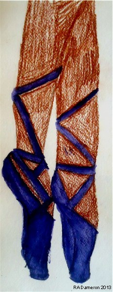 En Pointe inktense pencils, coloursoft pencils Copyright 2013 by A. Dameron
