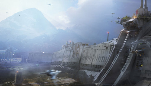 Concept art for Bungie's (the guys who brought you Halo) upcoming first person shooter Destiny Source: CreativeUncut