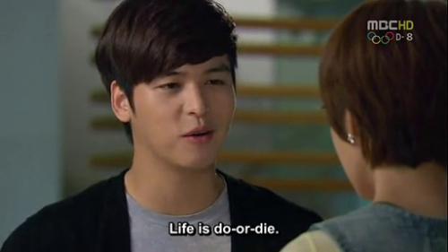 """Life is do-or-die."" -Park Tae Kang (Lee Jang Woo)"