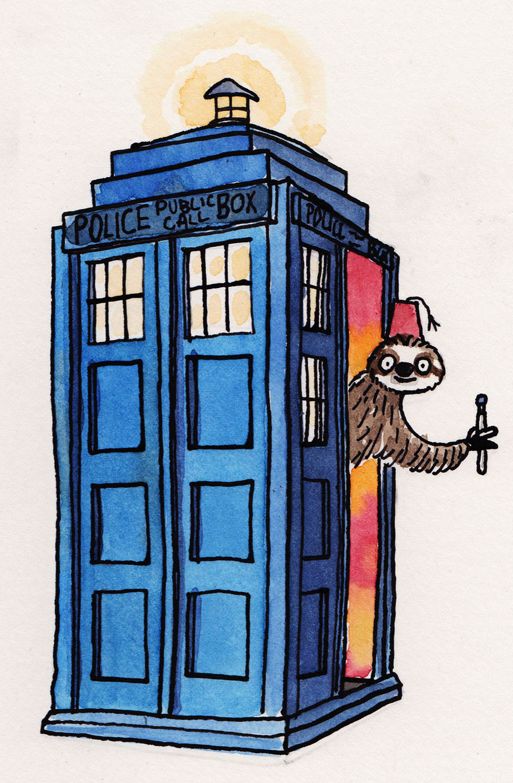 Sloth + Doctor Who = Wheelhouse