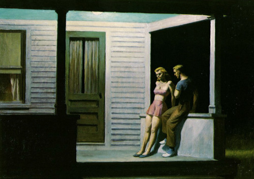 "julianacamargo:  ""Summer Evening"" (1947) - Edward Hopper"