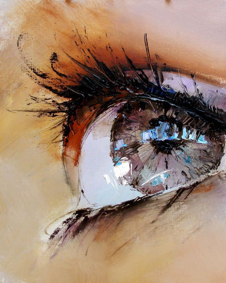 red-lipstick:  Pavel Guzenko (Ukrainian, based in Kiev) - Eyes     Paintings: Oil on Canvas