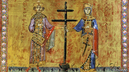 Constantine's cross Today is the date when many Christians commemorate Emperor Constantine the Great and his mother Helen, central figures in the late Roman empire's conversion to Christianity. Historians still argue about the significance of this change.