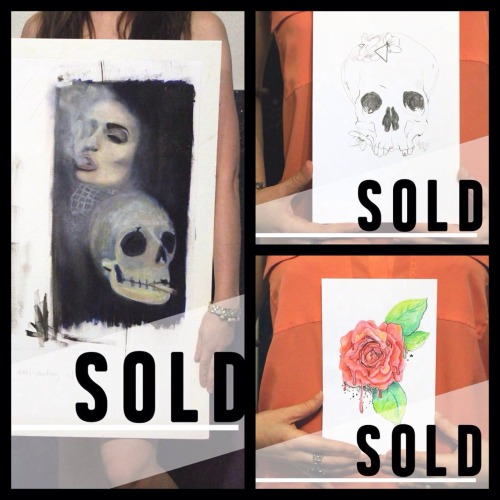 These pieces are selling fast! Purchase your own original art at katerijoe.com/shop before everything is gone. It's the last day of the sale! Support artists and