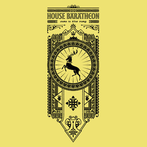 House Baratheon Banner by Oliver Ibáñez / posted by ianbrooks.me