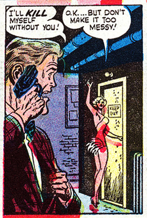 "vintagegal:  ""On With The Dance"" from Menace #2 (1953) (x)"