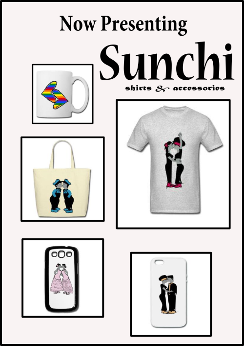 "ra-goes-rawr:  Go check out my new line of shirts and accessories ""Sunchi""  [soon-chee]. US site: http://sunchi.spreadshirt.com/ EU site: http://sunchi.spreadshirt.net/"