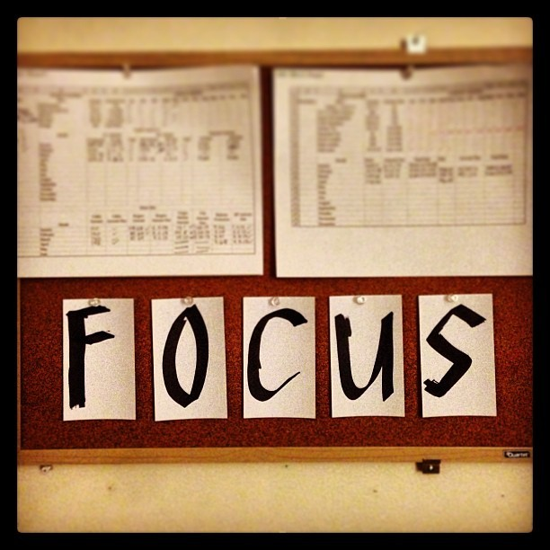 Damn right! FOCUS! #change