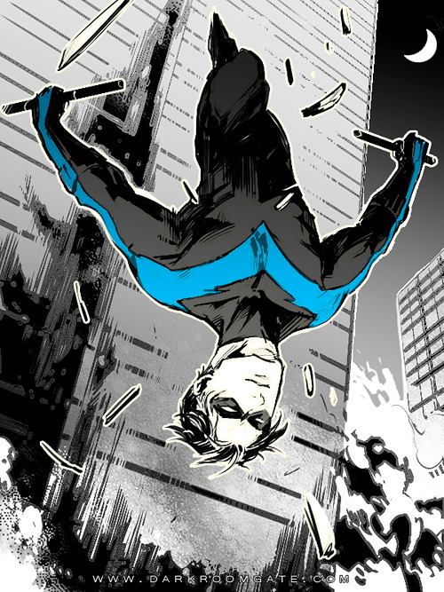 birdstump:  Nightwing, by Hai-ning