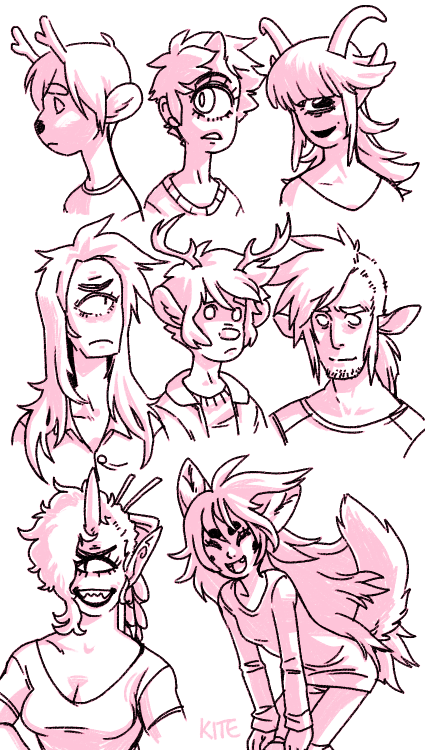 i felt like drawing some of my characters i guess. 8v (i got rid of terid's horns because they were pointless and i've been meaning to for a while)