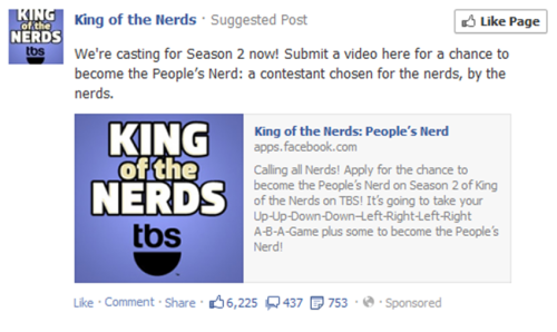 I've never seen King of the Nerds, but based on all the hateful comments PLUS the fact that they can't even get the Konami code correct makes me want to stay as far away from this shit as I can. Facebook suggested posts, man….