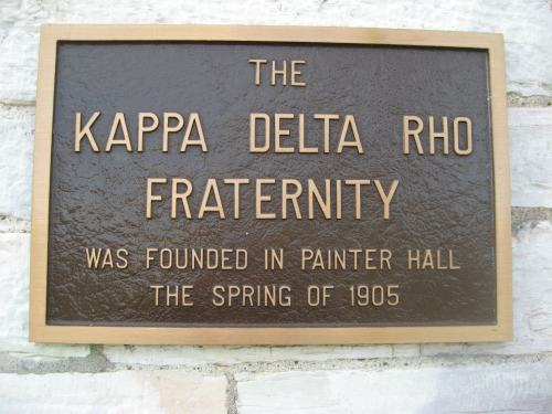 buhfield:  On May 17, 1905 the Kappa Delta Rho Fraternity was founded in Old Painter Hall at Middlebury College. On November 7, 2009 I joined this Fraternity not knowing what to expect or how this organization would make an impact on my life. Today, I work at the National Office and get to travel and meet KDR Brothers from all over. Today we recognize 108 years of placing Honor Above All Things. I cannot express the impact KDR has had on my life, how important all my brothers are to me, and the opportunities the fraternity has given to me and will bring in the future. Happy Founder's Day to the Gentleman of Kappa Delta Rho! Huminah!