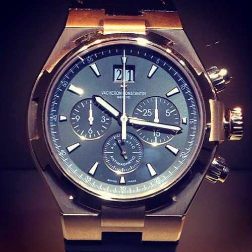 gqfashion:  VACHERON CONSTANTIN'S overseas chronograph - super luxury and stylish. TS