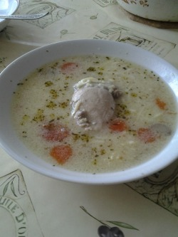 The special chicken soup that I made yesterday :)