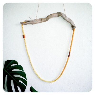 Water Logic collection 2012 hand dyed rope,copper, driftwood