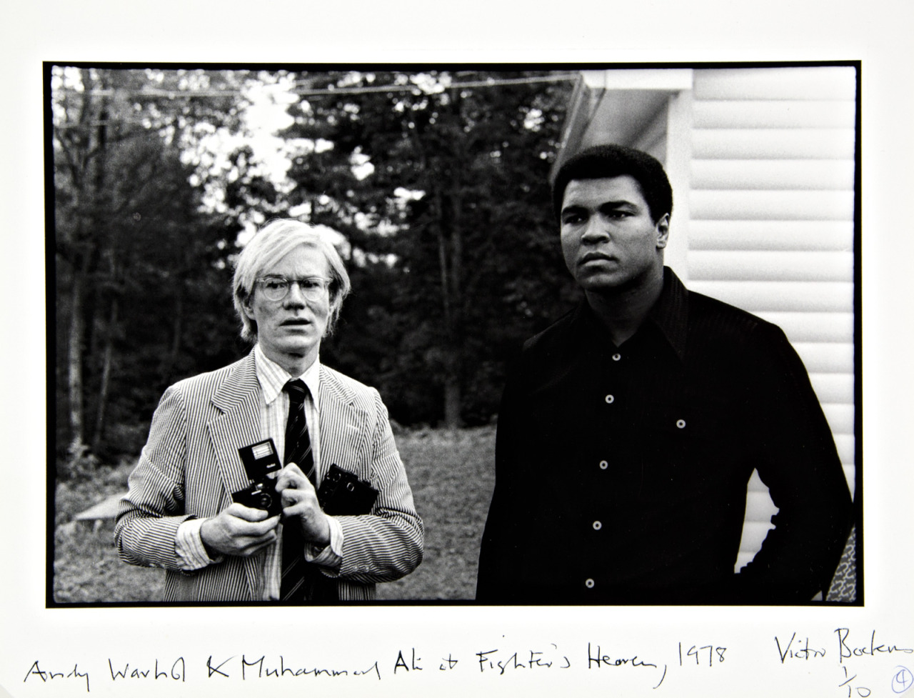 "Victor Bockris - Andy Warhol and Muhammad Ali at Fighters Haven, 1978  ""I said that the athletes were better than movie stars and I don't know what I'm talking about because athletes are the new movie stars."" Andy Warhol"