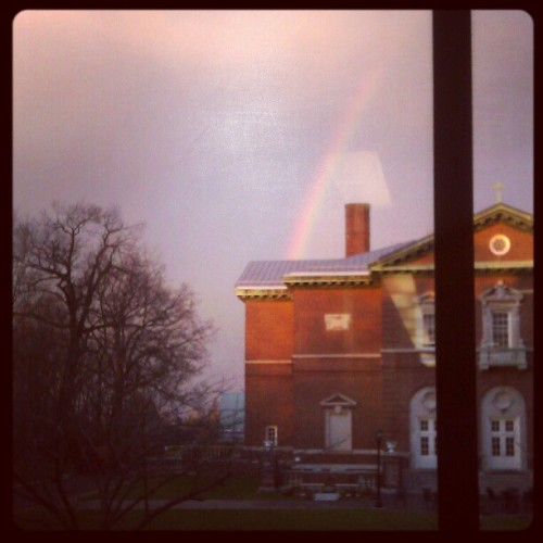 Saw a rainbow on campus today. I'm taking that as a sign on my finals are A!