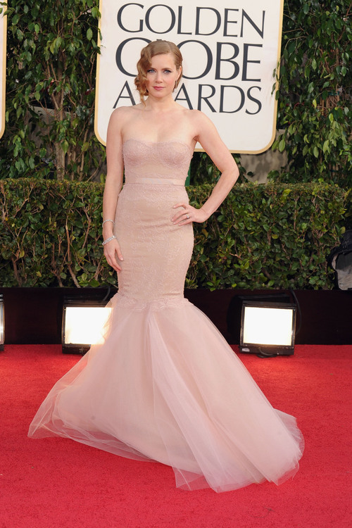 fashionfeude:  Amy Adams in Marchesa at the Golden Globes- Hollywood