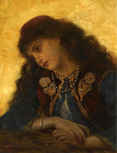 fuckyeahpreraphaelites:  Property of a Lady and GentlemanSophie Gengembre Anderson