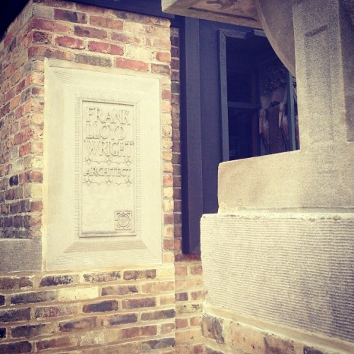 #architecture #franklloydwright (at Frank Lloyd Wright Home and Studio)