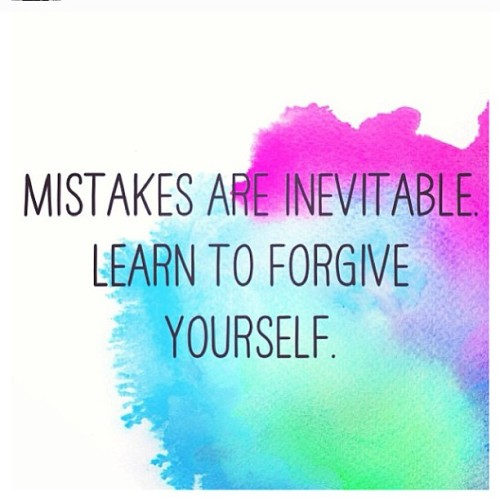 #forgive #yourself #forgiveyourself #mistakes #mistake #inevitable #color #watercolor #art