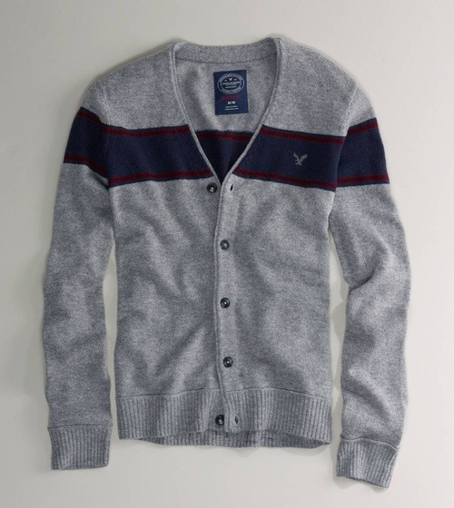 suitboss:  AE Striped V-Neck Cardigan | If you know where to buy this cloth……More men's fashion.