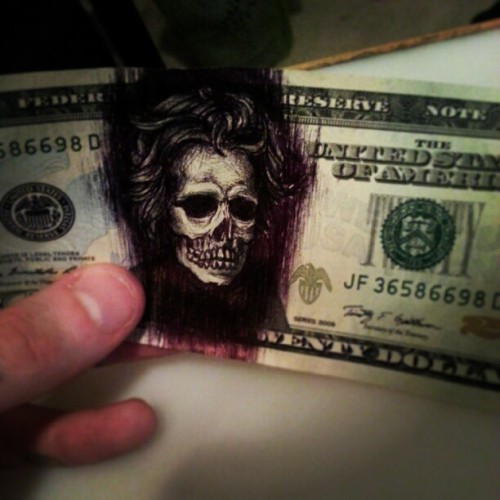 makin funny money! #deadpresidents #art #ballpointpen