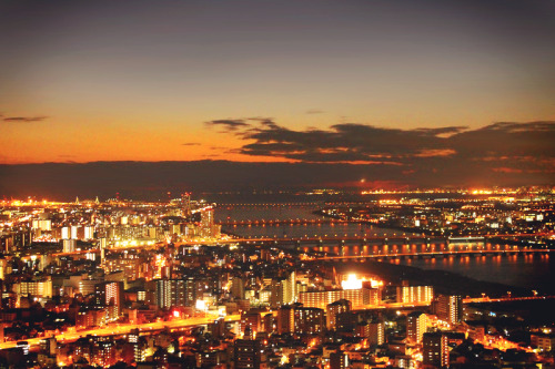 japanlove:  View from Floating Garden Observatory, Umeda Sky Building, Osaka