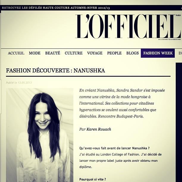 nanushkabudapest:  Paris meets Budapest, L'Officiel exclusive interview :) #nanushka #paris #lofficiel paris @lofficielparis www.lofficielmode.com