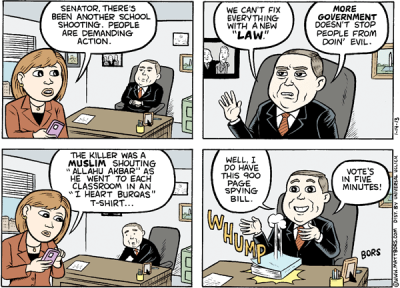 kevinbolk:  Regardless of your views on gun control, I think Matt Bors makes an excellent point.