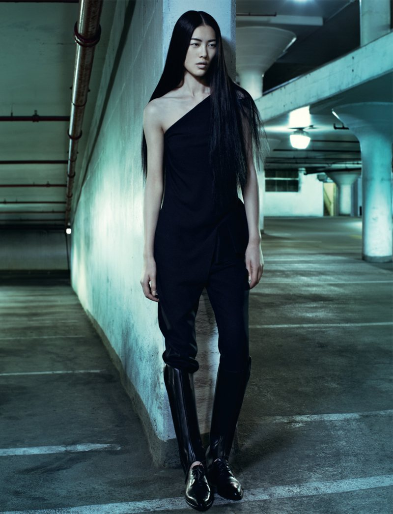 balenciwanga:  LIU WEN IN EMPORIO ARMANI BY SHARIF HAMZA FOR ANOTHER F/W 2011