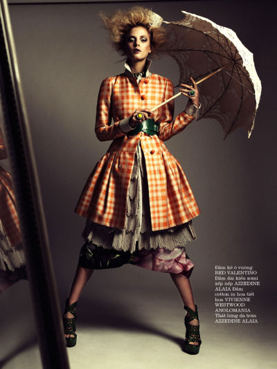 15yearsyounger:  stormtrooperfashion:  Tasha Franken by Paul Morel for ELLE Vietnam, April 2013  q'd see more sets here : http://15yearsyounger.tumblr.com/
