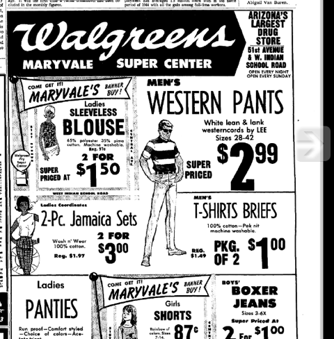 More Lee Westercords. Ad from The Arizona Republic, Friday, June 04, 1965 $2.99? Closer to $299.00 these days. Thanks to Kelly Robinson.