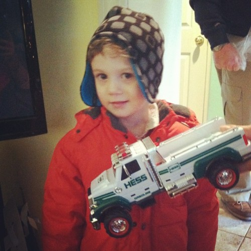 Go forth, young cousin, with one of our last surviving Hess trucks.